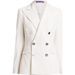 Ralph Lauren Collection Women's Camden Double Breasted Stretch Wool Jacket - Cream - Size 14
