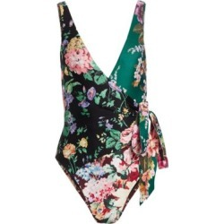 Allia Floral Wrap One-Piece Swimsuit found on Bargain Bro Philippines from Saks Fifth Avenue Canada for $218.77