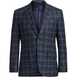 Saks Fifth Avenue Men's COLLECTION Plaid Sportcoat - Navy - Size 46 found on Bargain Bro from Saks Fifth Avenue for USD $265.23