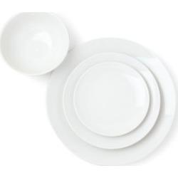Damek White 16-Piece Dinnerware Set