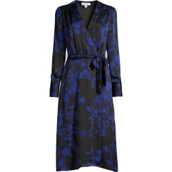 Equipment Women's Cherylene Floral Wrap Dress - Deep Well - Size 6 found on Bargain Bro India from Saks Fifth Avenue for $190.00