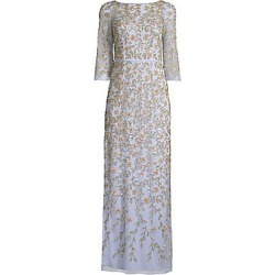 Aidan Mattox Women's Beaded Three-Quarter-Sleeve Gown - Ice Perry - Size 8 found on MODAPINS from Saks Fifth Avenue for USD $198.10