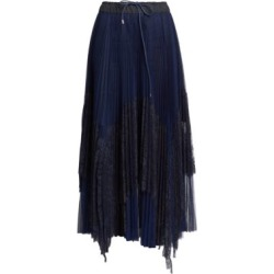 Lace Pleated Slit Midi Skirt found on Bargain Bro Philippines from Saks Fifth Avenue AU for $1097.23