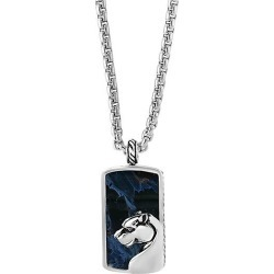 Sterling Silver Pietersite Dog Tag Necklace found on Bargain Bro Philippines from Saks Fifth Avenue OFF 5TH for $580.00