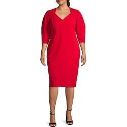 Plus V-Neck Sheath Dress found on Bargain Bro India from Saks Fifth Avenue OFF 5TH for $54.99