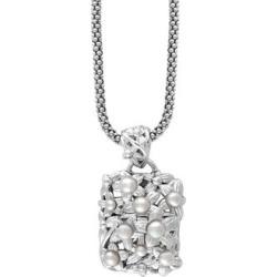 Collier à gros pendentif en argent sterling avec perles d'eau douce de 2,5 à 4,5 mm