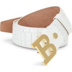 Bally Men's B Buckle Croc-Embossed Leather Belt - White - Size 110 (44) found on MODAPINS from Saks Fifth Avenue for USD $395.00