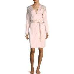 Fleur Lace-Trim Robe found on MODAPINS from Saks Fifth Avenue for USD $298.00