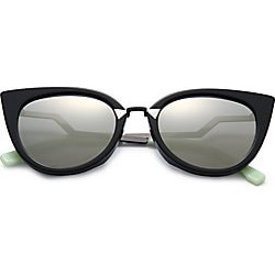 b43a54cc46ab1 Fendi Women s Zig-Zag Arm 52MM Cat Eye Sunglasses - Black found on MODAPINS  from
