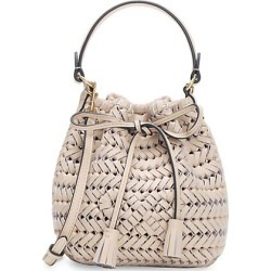 Anya Hindmarch Women's Neeson Woven Leather Drawstring Bucket Bag - Calico found on MODAPINS from Saks Fifth Avenue for USD $850.00