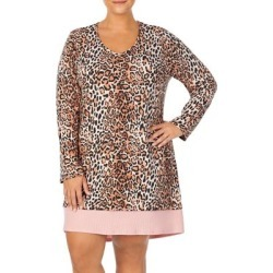 Plus Leopard-Print Sleep Tee