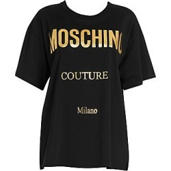 Moschino Oversize Metallic Logo Tee - Black Mult - Size L found on Bargain Bro Philippines from Saks Fifth Avenue for $250.00