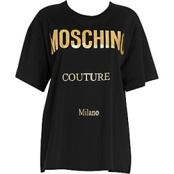 Moschino Oversize Metallic Logo Tee - Black Mult - Size L found on Bargain Bro India from Saks Fifth Avenue for $250.00