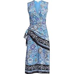 Altuzarra Women's Sade Sleeveless Paisley Silk Wrap Dress - Flax Flower - Size 44 (12) found on MODAPINS from Saks Fifth Avenue for USD $1995.00