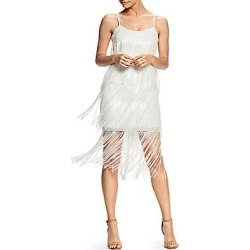 Dress The Population Women's Roxy Sequin Fringe Dress - White - Size Large found on MODAPINS from LinkShare USA for USD $320.00