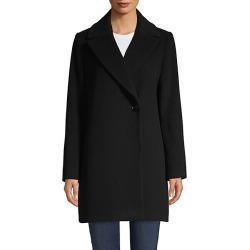 Long-Sleeve Wool-Blend Coat