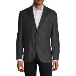 Boglioli Men's Flannel Wool Dinner Jacket - Charcoal - Size 52 (42) found on MODAPINS from Saks Fifth Avenue OFF 5TH for USD $289.97