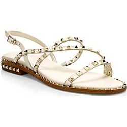 Ash Women's Peace Rockstud Leather Gladiator Sandals - Ivory - Size 40 (10) found on MODAPINS from Saks Fifth Avenue for USD $220.00