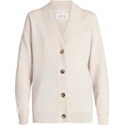 Maison Margiela Women's Logo Elbow-Patch Wool Cardigan - Sand - Size Medium found on MODAPINS from Saks Fifth Avenue for USD $680.00