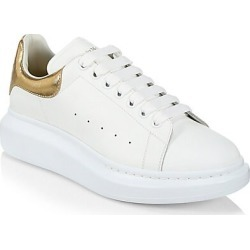 Alexander McQueen Men's Men's Oversized Metallic Leather Platform Sneakers - White Gold - Size 39.5 (6.5) found on MODAPINS from Saks Fifth Avenue for USD $540.00