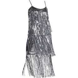 Dress The Population Women's Roxy Sequin Fringe Dress - Gunmetal - Size Medium found on MODAPINS from Saks Fifth Avenue for USD $224.00