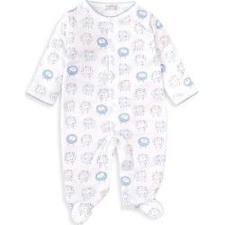 Kissy Kissy Baby Boy's Shabby Sheep Print Footie - Light Blue - Size Newborn