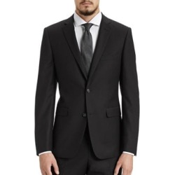 Slim Fit Black Suit Jacket found on Bargain Bro India from The Bay for $64.99