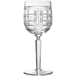 Ralph Lauren Hudson Plaid White Wine Glass found on Bargain Bro India from Saks Fifth Avenue for $95.00