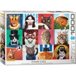 1000 Piece Puzzle (funny Cats By Lucia Heffernan) found on GamingScroll.com from The Bay for $31.00