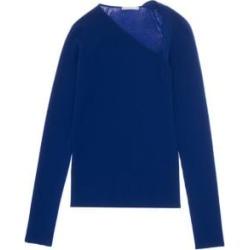 Rib-Knit Raglan Pullover