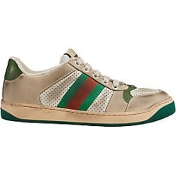 Gucci Women's Screener Leather Sneakers - Size 41 (11) found on MODAPINS from Saks Fifth Avenue for USD $870.00