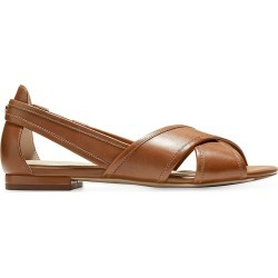 Cole Haan Women's Lewis Cutout Leather Flats - Pecan - Size 8 found on Bargain Bro from Saks Fifth Avenue for USD $114.00