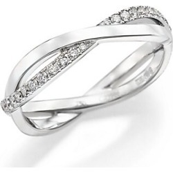 De Beers Women's Infinity Diamond & 18K White Gold Half Band Ring - White Gold - Size 6 found on Bargain Bro Philippines from Saks Fifth Avenue for $2600.00