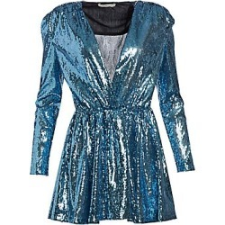 Amen Women's Sequined Bold Shoulder Mini Dress - Light Blue - Size 40 (2-4) found on MODAPINS from Saks Fifth Avenue for USD $785.00