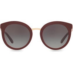Dolce & Gabbana Women's 52MM Round Sunglasses - Bordeaux found on Bargain Bro from Saks Fifth Avenue for USD $204.44