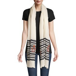Janavi Women's Skulls On Stripes Wool/Silk Scarf - Ivory Black found on MODAPINS from Saks Fifth Avenue for USD $215.00