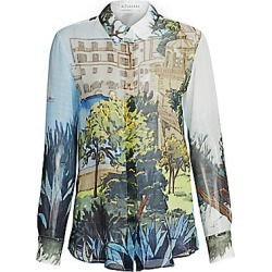 Altuzarra Women's Silk Tuscany Print Blouse - Blue Multi - Size 36 (2) found on MODAPINS from Saks Fifth Avenue for USD $995.00