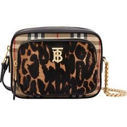 Burberry Women's Small Leopard-Print Calf Hair & Vintage Check Camera Bag - Black found on Bargain Bro India from Saks Fifth Avenue for $1390.00