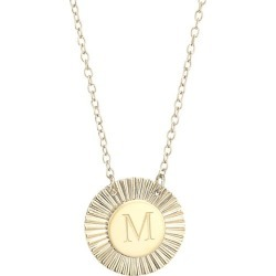 Jennifer Zeuner Jewelry Women's Iris Rudy 14K Gold Vermeil Engraved Initial Pendant Necklace - Initial M found on Bargain Bro Philippines from Saks Fifth Avenue for $176.00