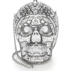 Judith Leiber Couture Women's Skull Katerina Crystal Clutch - Silver found on MODAPINS from Saks Fifth Avenue for USD $5495.00