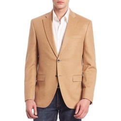 Saks Fifth Avenue Men's COLLECTION Two-Button Front Cashmere Blazer - Beige - Size 44 found on Bargain Bro from Saks Fifth Avenue for USD $986.48