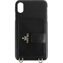 Prada Women's iPhone XS Max Leather Phone Case - Black found on Bargain Bro India from Saks Fifth Avenue for $550.00