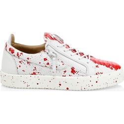 Giuseppe Zanotti Men's Low-Top Leather Splash Paint Sneakers - Size 43 (10)