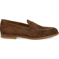 Brunello Cucinelli Men's Flex Suede Penny Loafers - Brown - Size 46 (13) found on MODAPINS from Saks Fifth Avenue for USD $795.00
