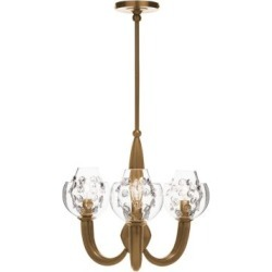 Florence Burnished Brass Double Shade Chandelier found on Bargain Bro India from Saks Fifth Avenue Canada for $2052.26