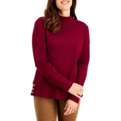 Button-Trim Mockneck Top found on Bargain Bro Philippines from The Bay for $14.99