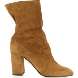 Aquazzura Women's Boogie Suede Ankle Boots - Cinnamon - Size 40 (10) found on MODAPINS from Saks Fifth Avenue for USD $825.00