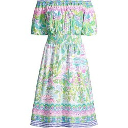 Lilly Pulitzer Women's Camille Off-The-Shoulder Floral Dress - Size Large