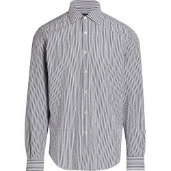 Saks Fifth Avenue Men's COLLECTION Striped Seersucker Woven Sport Shirt - Blue White - Size XXL found on Bargain Bro from Saks Fifth Avenue for USD $90.29