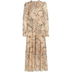 Palm Print Tiered Crinkle Chiffon Midi Dress found on Bargain Bro UK from Saks Fifth Avenue UK
